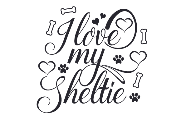 Download Free I Love My Sheltie Svg Cut File By Creative Fabrica Crafts for Cricut Explore, Silhouette and other cutting machines.