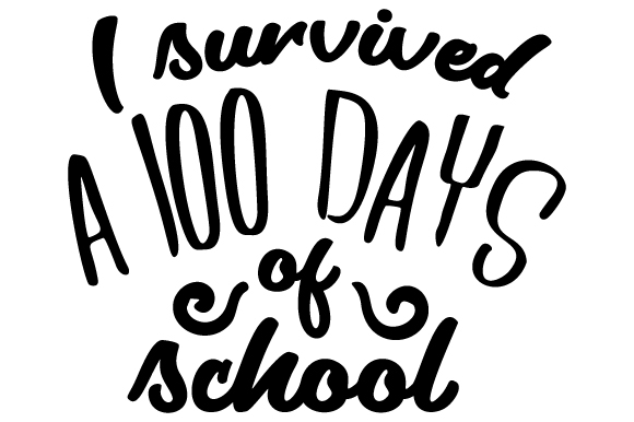 100 Days Of School Clipart Black And White All About Clipart