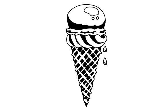 Download Free Ice Cream Cone Svg Cut File By Creative Fabrica Crafts for Cricut Explore, Silhouette and other cutting machines.