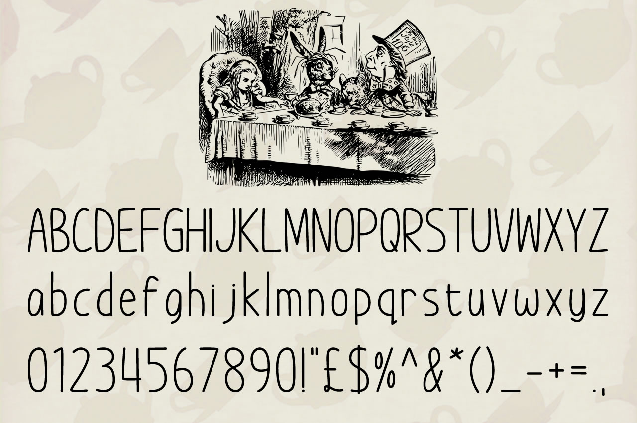 Print on Demand: Im Wunderland Script & Handwritten Font By Chequered Ink - Image 3
