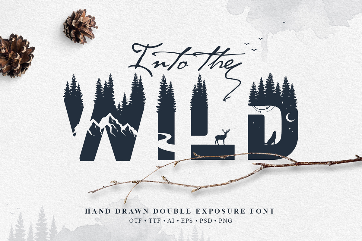 Into the Wild Display Font By Cosmic Store