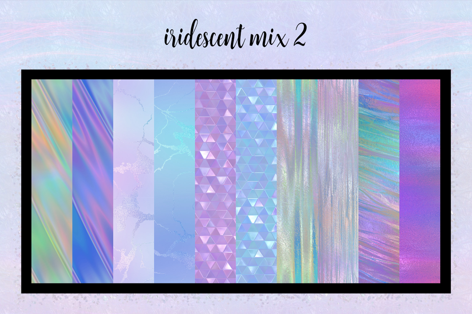 Print on Demand: Iridescent Collection Graphic Textures By JulieCampbellDesigns - Image 11