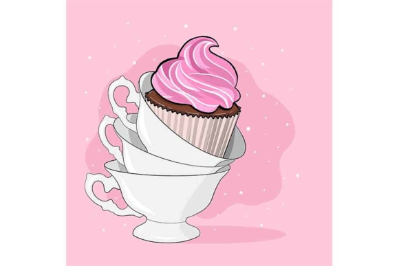 It is Tea Time Graphic Illustrations By Sasha_Brazhnik