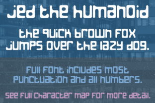 Jed the Humanoid Font By Quick Brown Fox Fonts