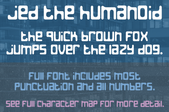 Print on Demand: Jed the Humanoid Decorative Font By Quick Brown Fox Fonts