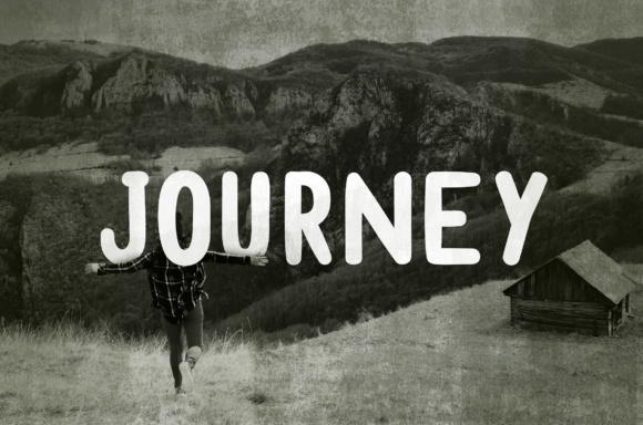 Print on Demand: Journey Display Font By brandsparkdesigns