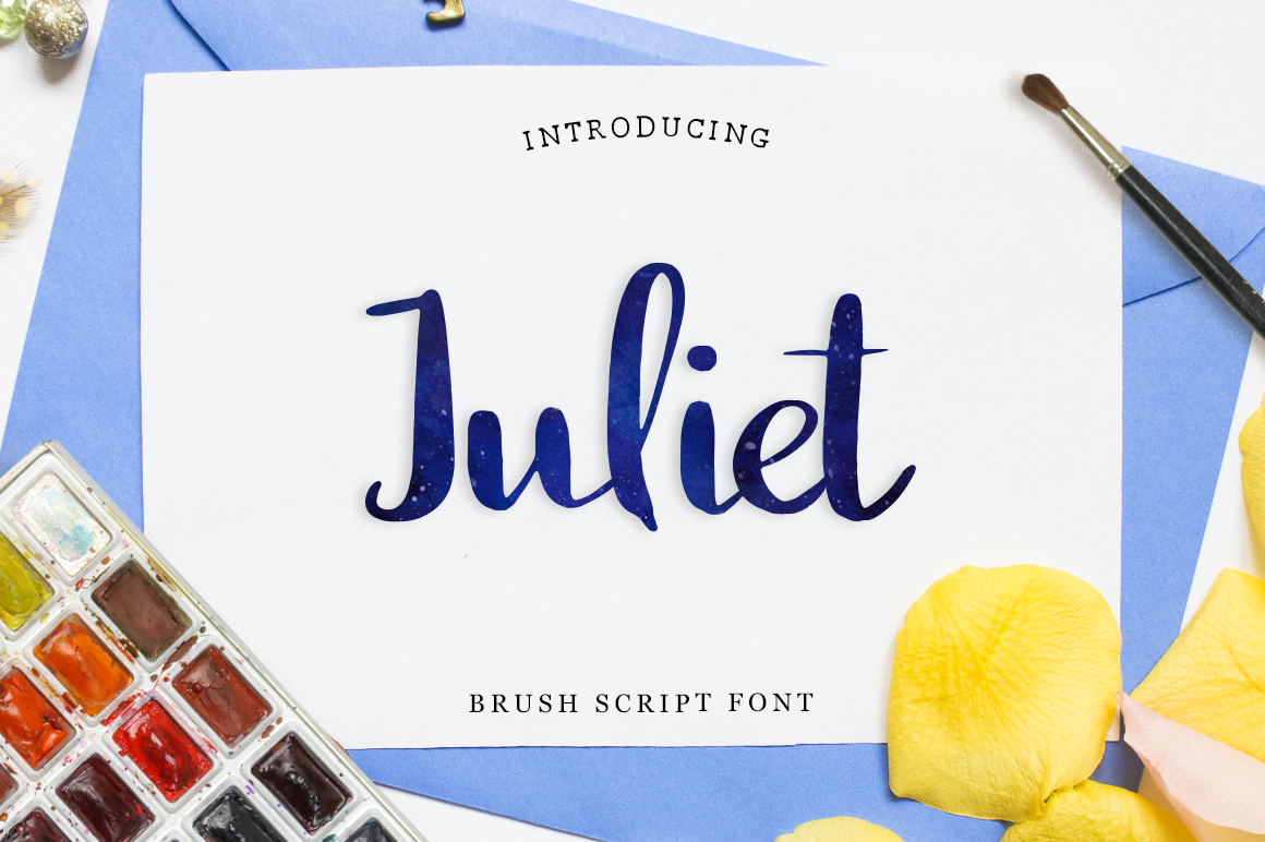 Print on Demand: Juliet Script & Handwritten Font By Pasha Larin