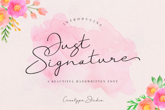 Print on Demand: Just Signature Script & Handwritten Font By CreatypeStudio