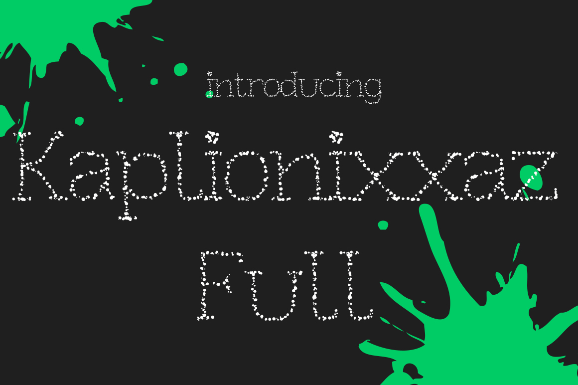 Kaplionixxaz Full Decorative Font By viper78