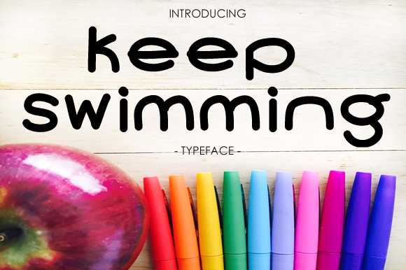 Print on Demand: Keep Swimming Script & Handwritten Font By yh.seaofknowledge