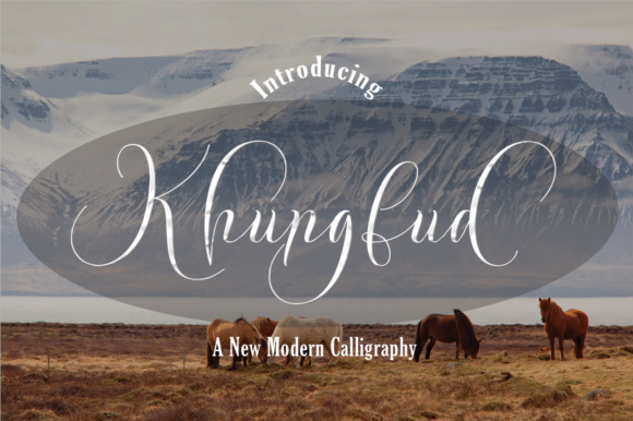 Print on Demand: Khungfud Script & Handwritten Font By naldystudio