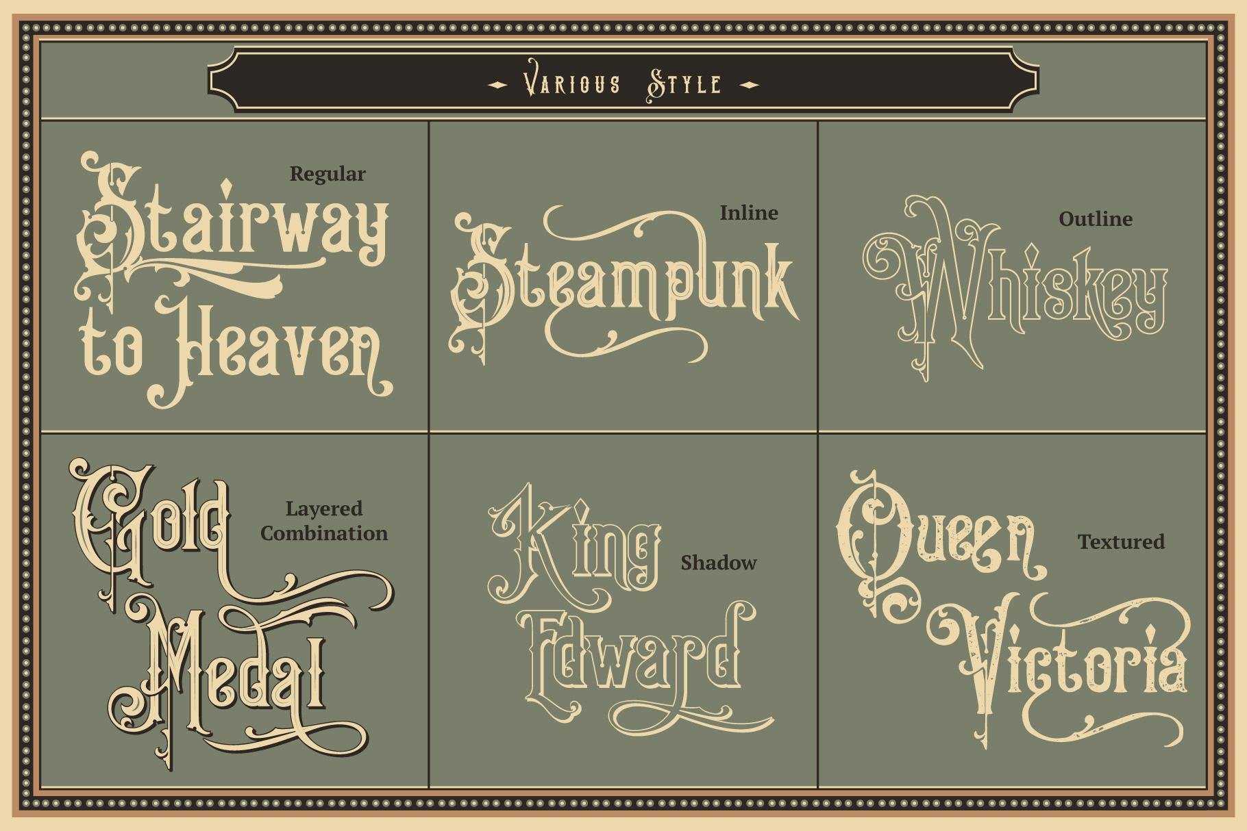 Print on Demand: King Edward & Queen Victoria Serif Font By Burntilldead - Image 2