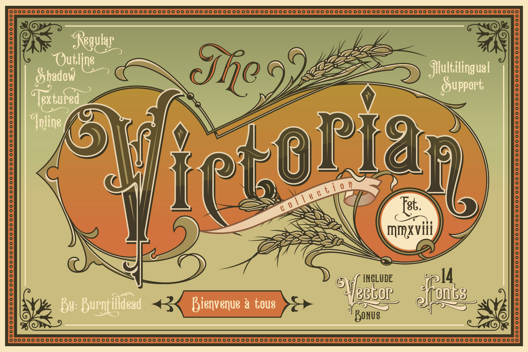 Print on Demand: King Edward & Queen Victoria Serif Font By Burntilldead - Image 1