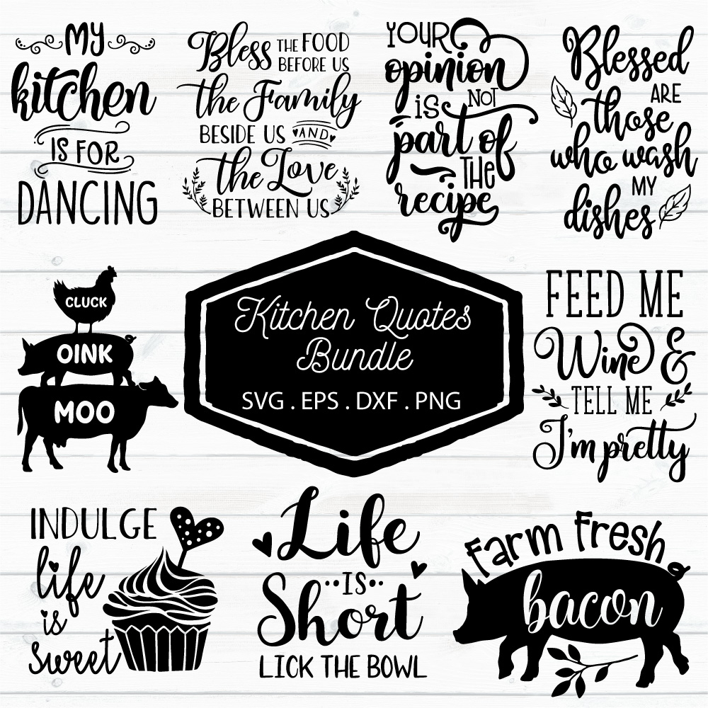 Kitchen Quotes Bundle Graphic By Craft Pixel Perfect Creative