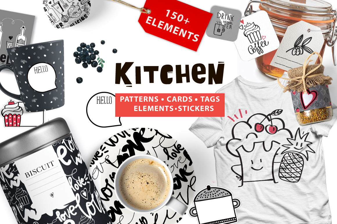 Kitchen Graphic Pack Graphic Illustrations By sto-va