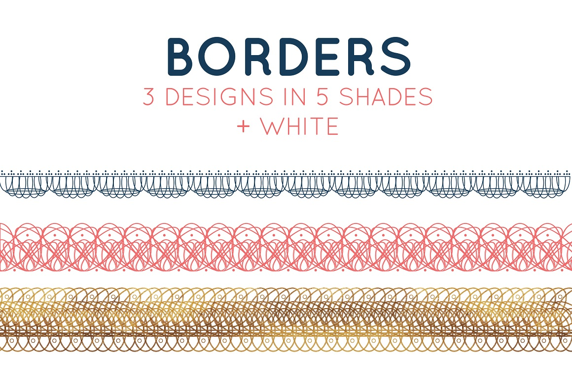 Print on Demand: Lace Clipart, Lace Border & Patterns Graphic Illustrations By illuztrate - Image 2