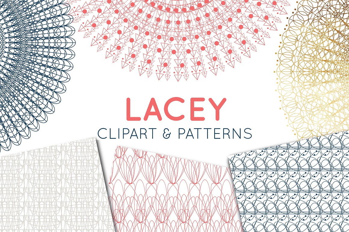Print on Demand: Lace Clipart, Lace Border & Patterns Graphic Illustrations By illuztrate