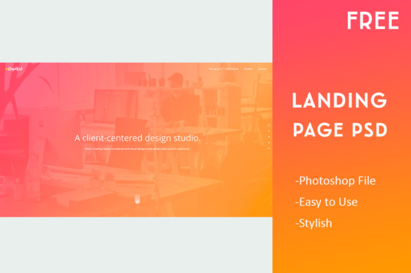 Landing Page Template Graphic Landing Page Templates By Creative Fabrica Freebies - Image 2