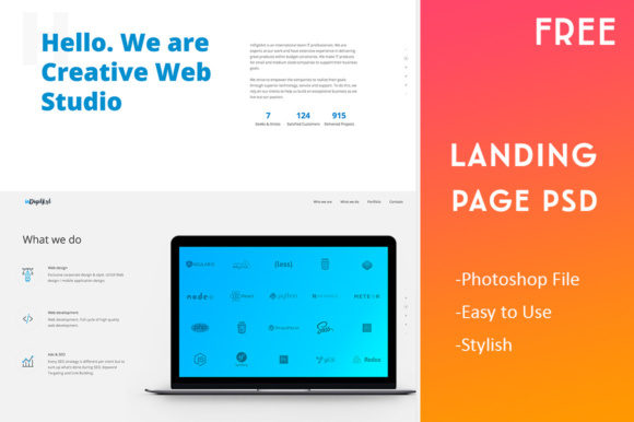 Landing Page Template Graphic Landing Page Templates By Creative Fabrica Freebies - Image 3