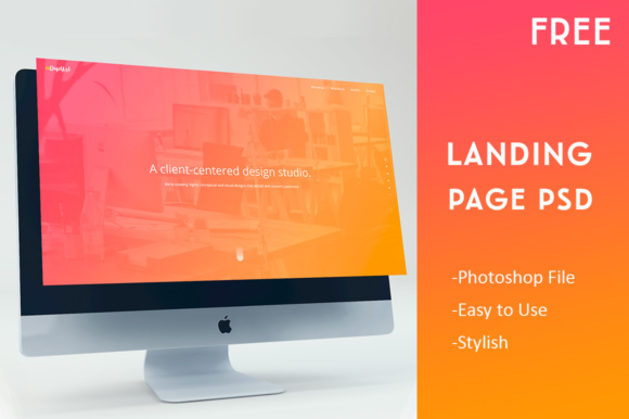 Landing Page Template Graphic Landing Page Templates By Creative Fabrica Freebies