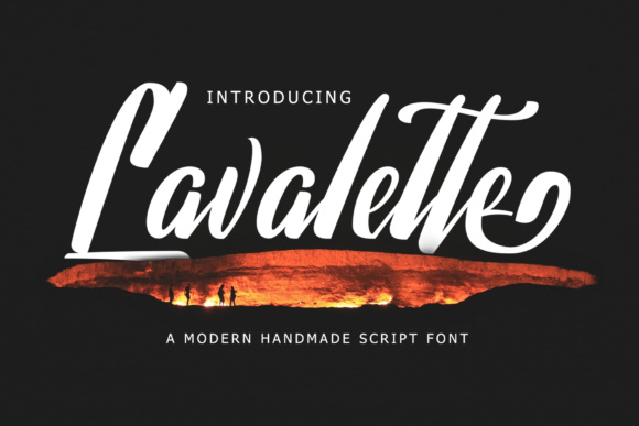 Print on Demand: Lavalette Script & Handwritten Font By semuthitam
