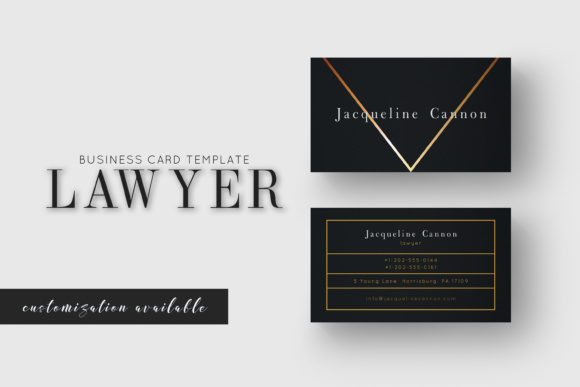 Lawyer business card graphic by awesome templates creative fabrica lawyer business card cheaphphosting Gallery