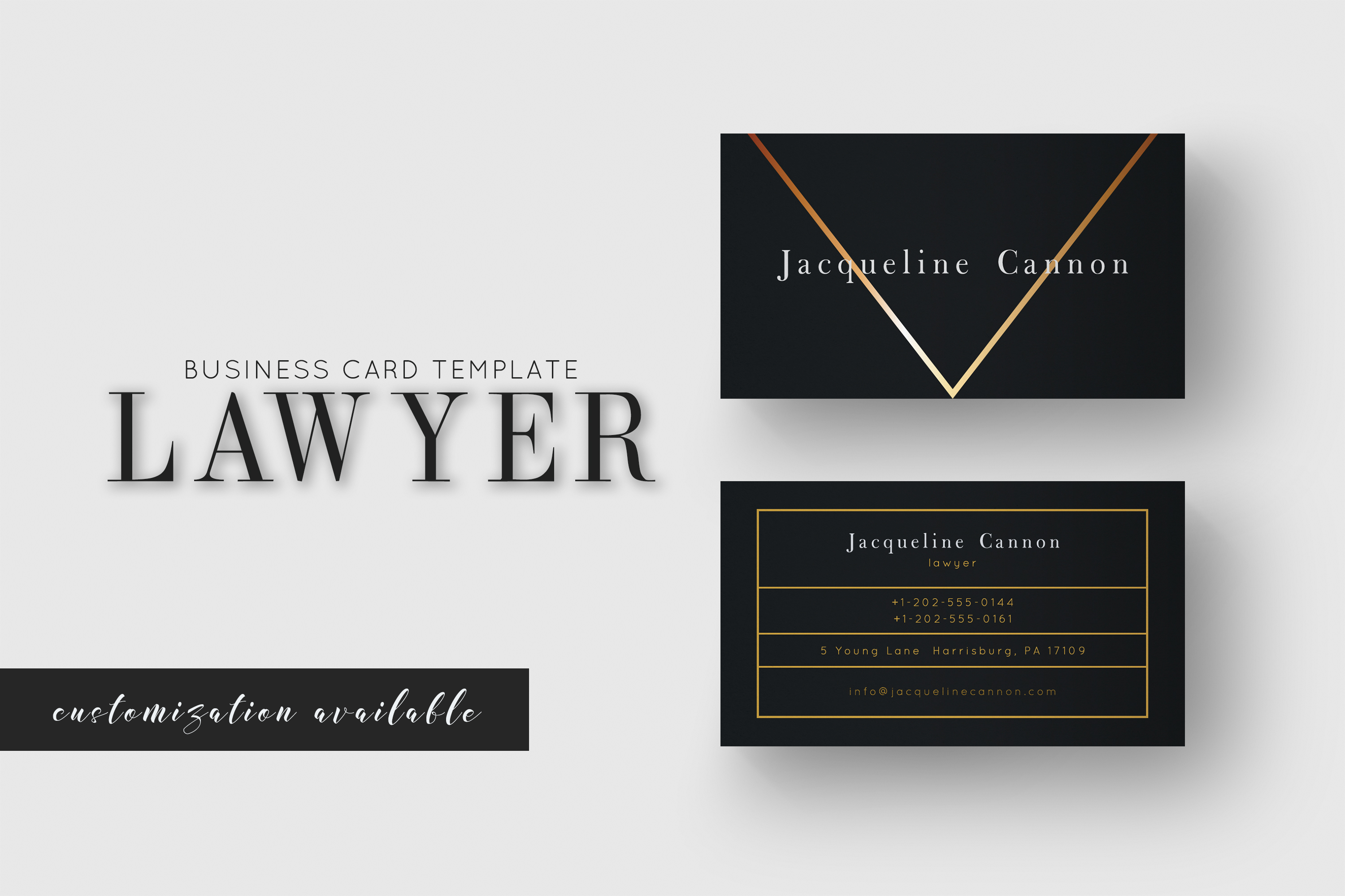 Lawyer Business Card Graphic by Awesome Templates - Creative Fabrica