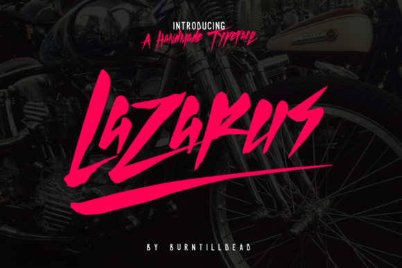 Print on Demand: Lazarus Display Font By Burntilldead