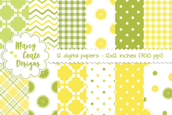 Lemon Lime Backgrounds Graphic Backgrounds By MarcyCoateDesigns
