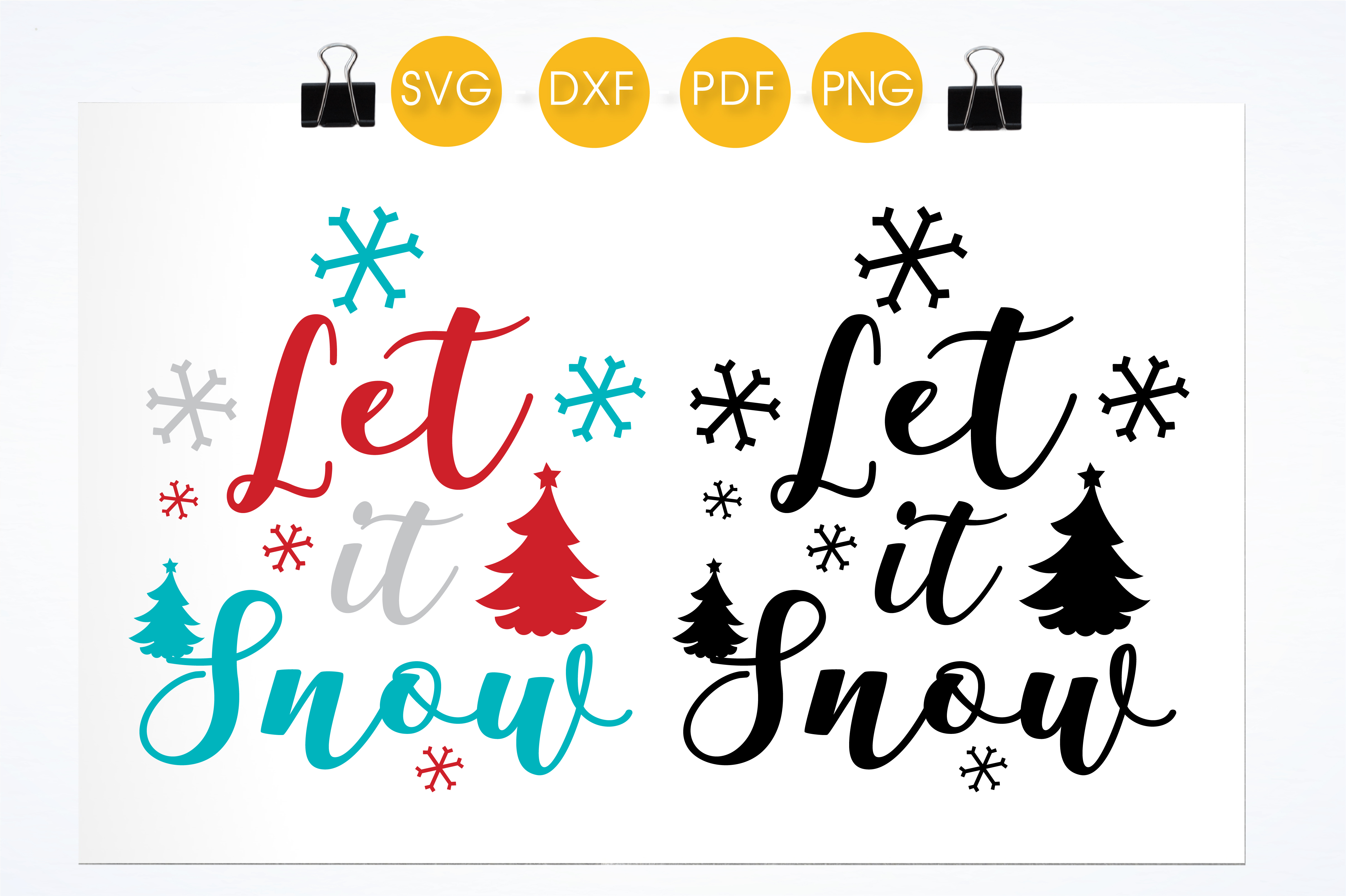 Let It Snow Graphic By Prettycuttables Creative Fabrica