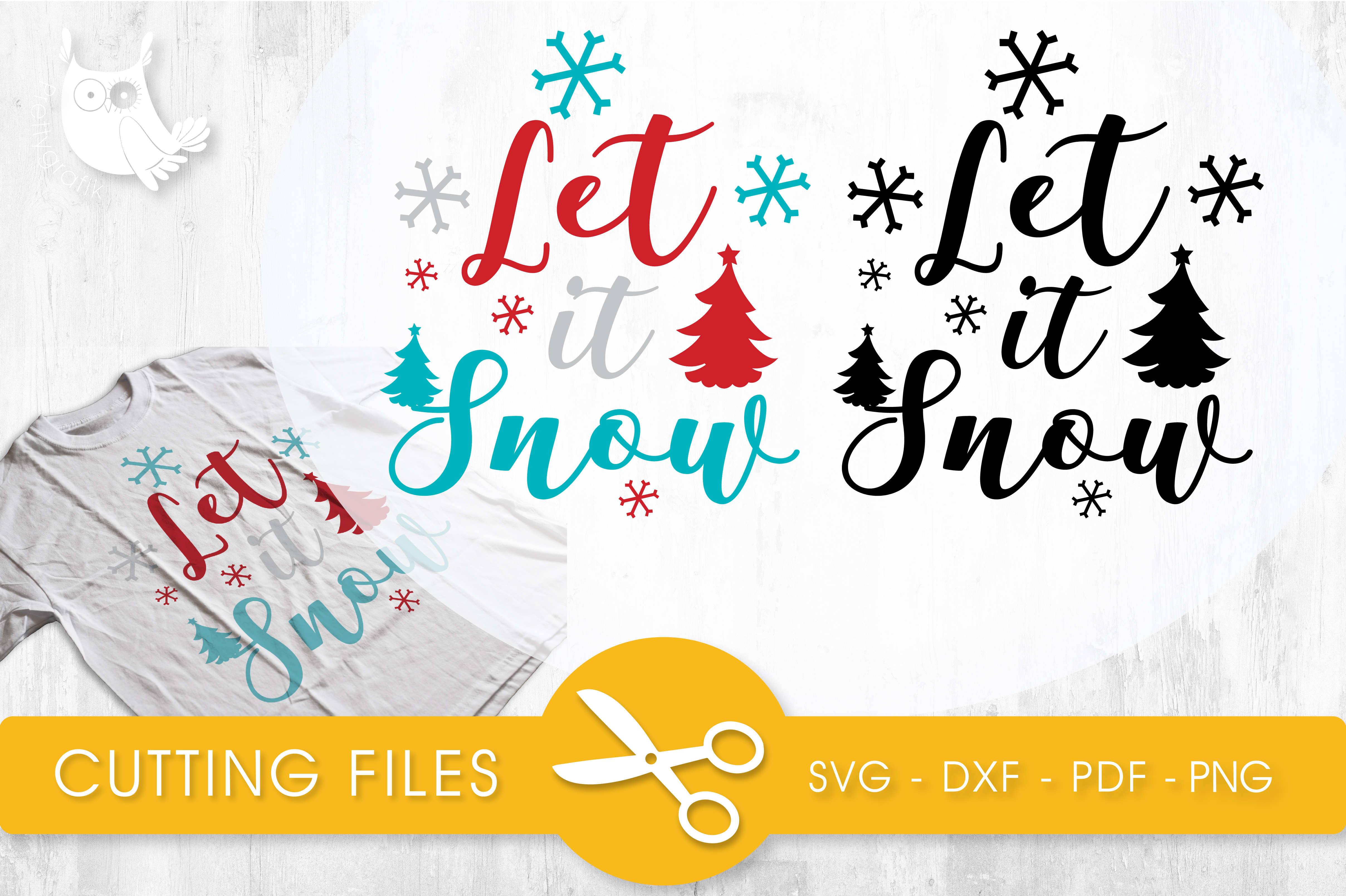 Let It Snow Graphic Crafts By PrettyCuttables