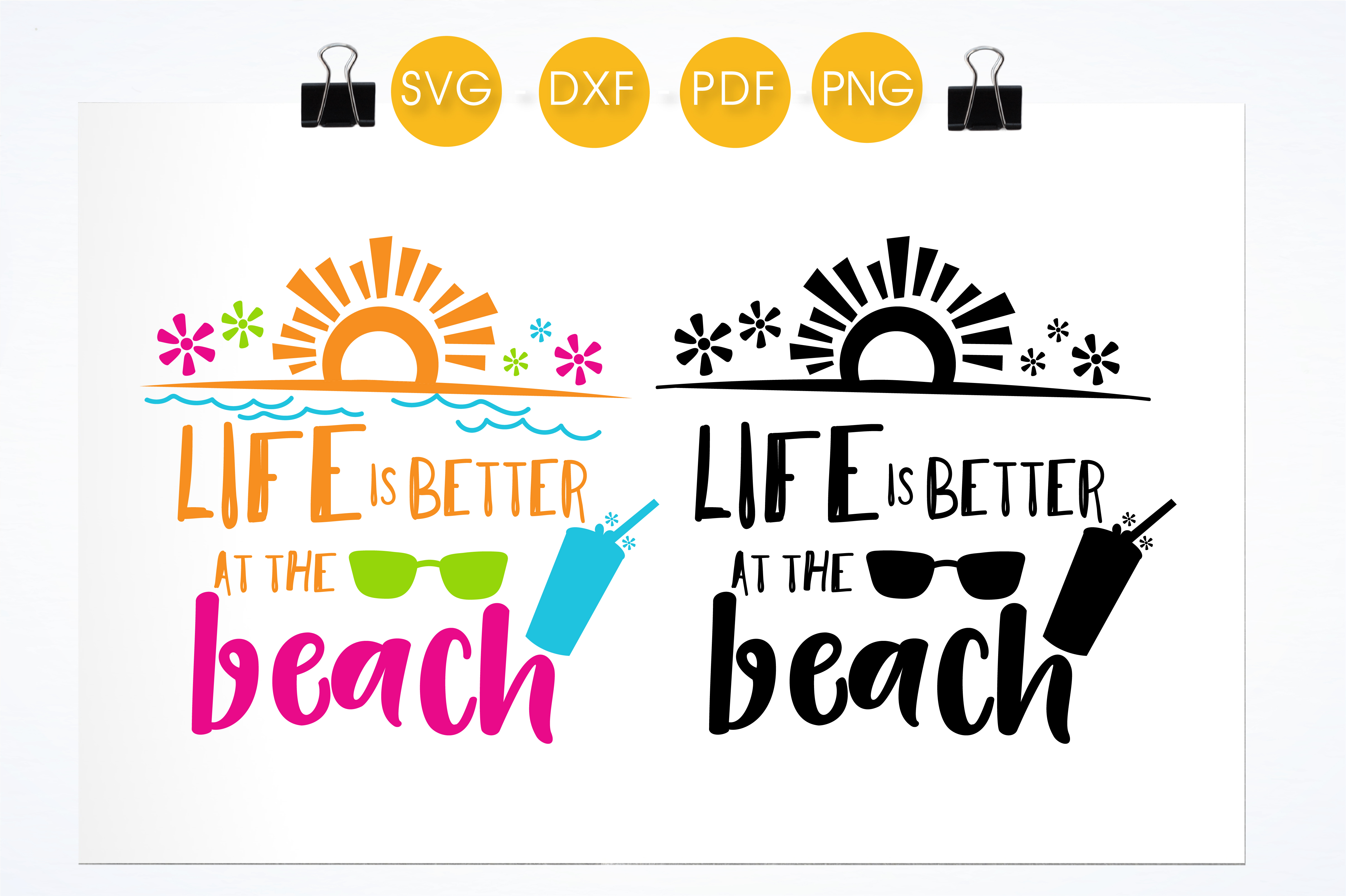 Life is Better at the Beach - Colorful Graphic Crafts By PrettyCuttables - Image 2