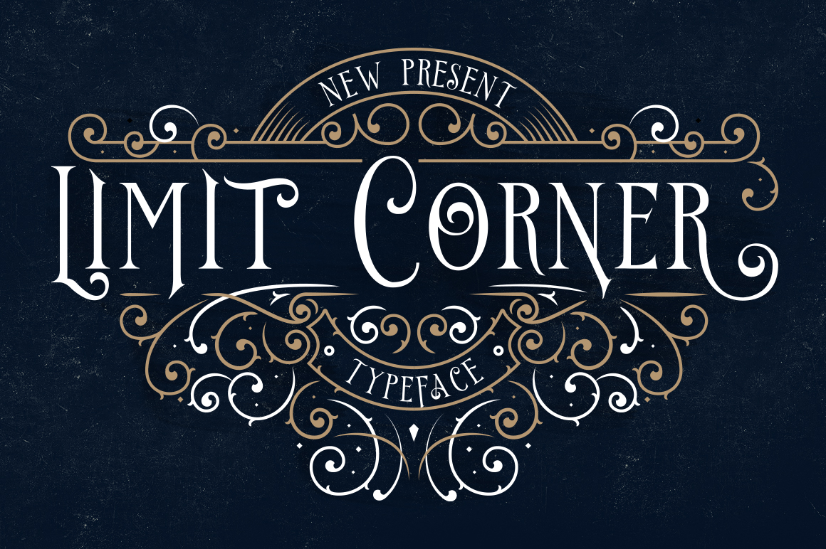 Print on Demand: Limit Corner Decorative Font By storictype