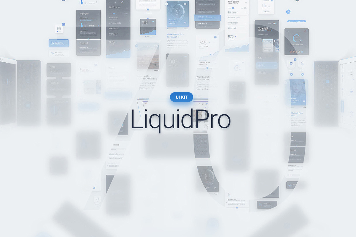 Liquid Pro UI Kit Graphic UX and UI Kits By Creative Fabrica Freebies - Image 3