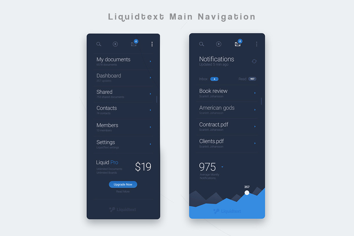 Liquid Pro UI Kit Graphic UX and UI Kits By Creative Fabrica Freebies - Image 5