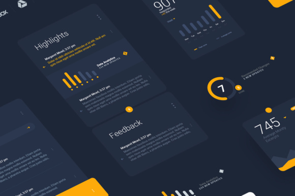 Liquid Pro UI Sketch Kit Graphic UX and UI Kits By Creative Fabrica Freebies - Image 3