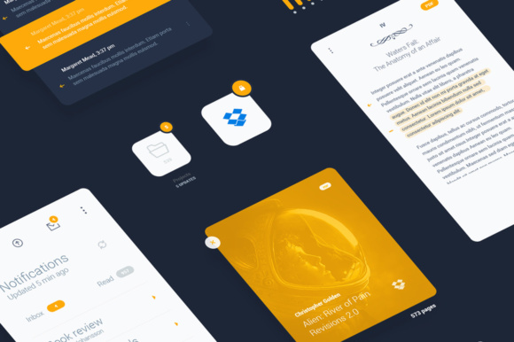Liquid Pro UI Sketch Kit Graphic UX and UI Kits By Creative Fabrica Freebies - Image 4