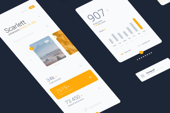 Liquid Pro UI Sketch Kit Graphic UX and UI Kits By Creative Fabrica Freebies - Image 5