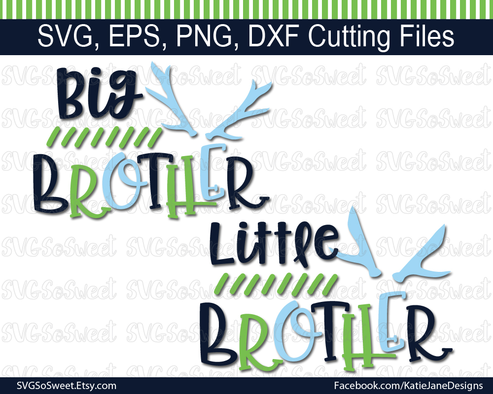 Little Brother Big Brother SVG Bundle Graphic Crafts By Southern Belle Graphics