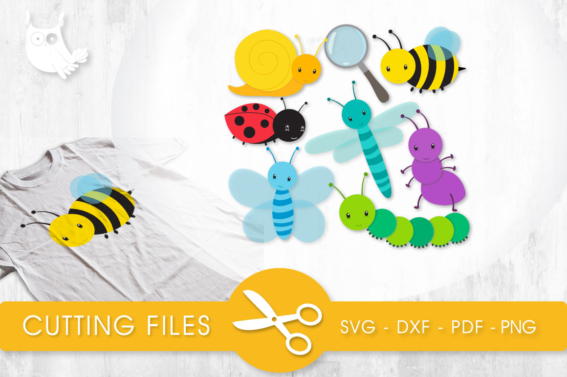Little Bugs Graphic Crafts By PrettyCuttables