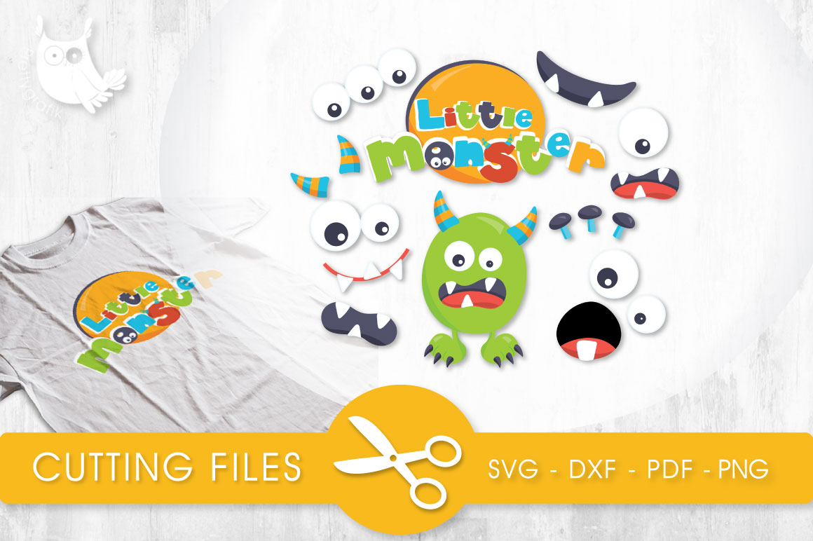 Download Free Little Monster Parts Graphic By Prettycuttables Creative Fabrica for Cricut Explore, Silhouette and other cutting machines.