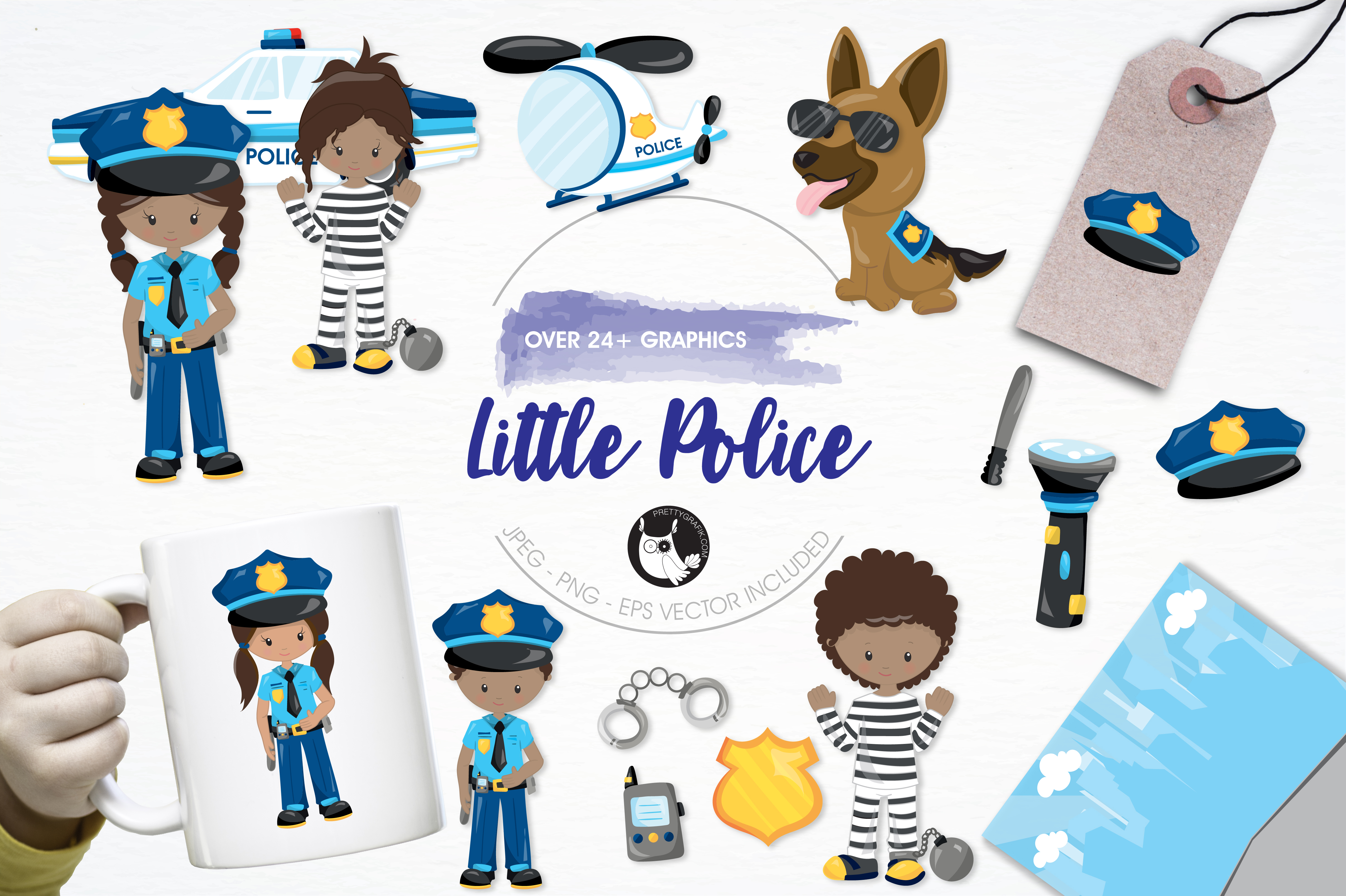 Print on Demand: Little Police Graphic Illustrations By Prettygrafik