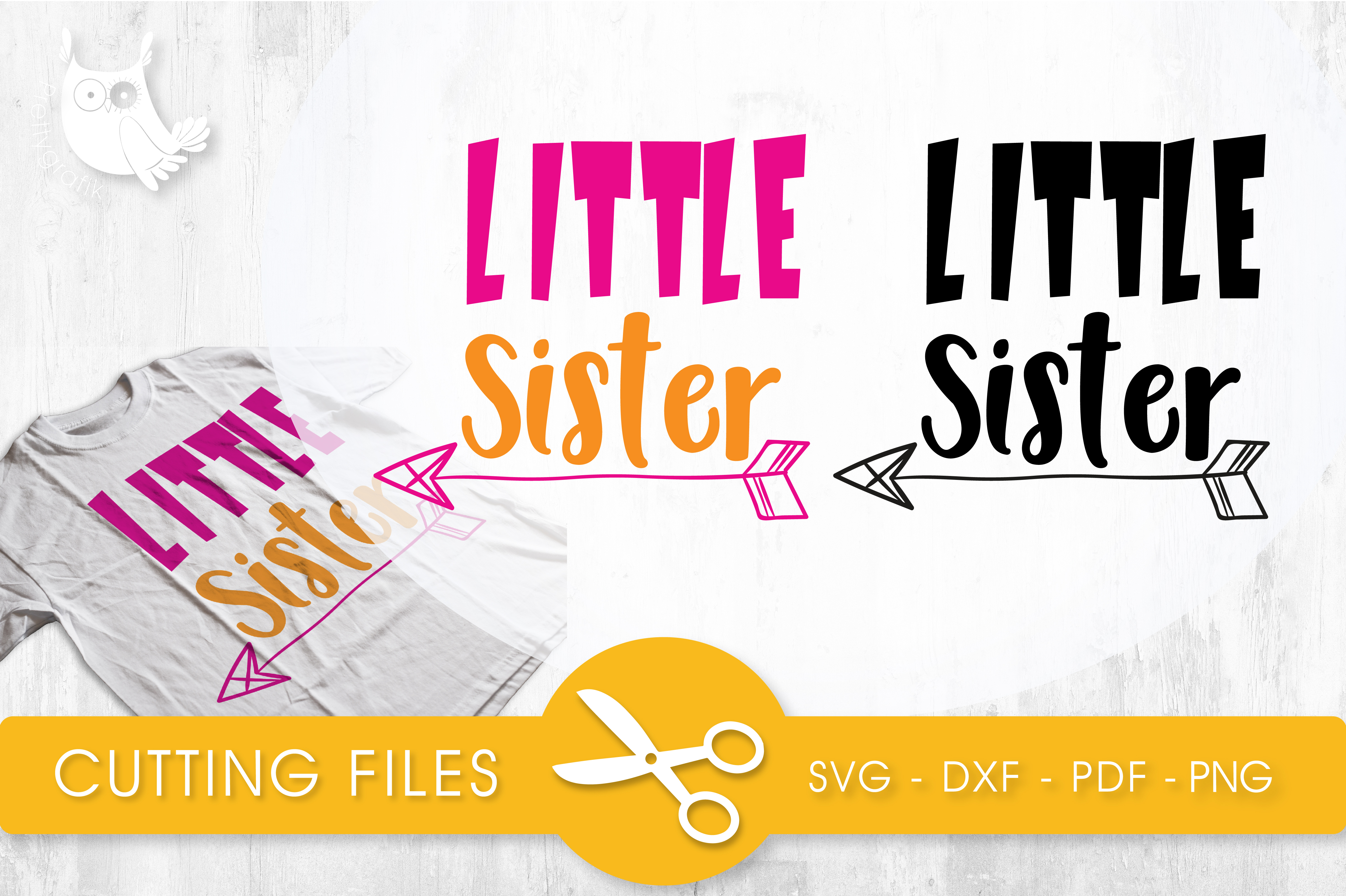 Download Free Little Sister Graphic By Prettycuttables Creative Fabrica for Cricut Explore, Silhouette and other cutting machines.