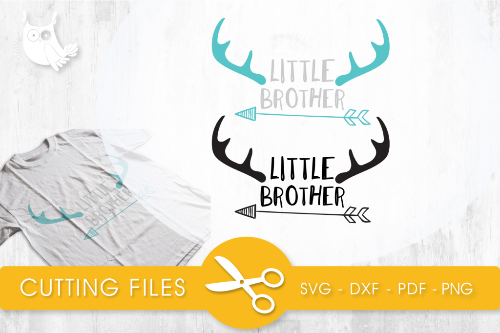 Download Free Little Brother Graphic By Prettycuttables Creative Fabrica for Cricut Explore, Silhouette and other cutting machines.