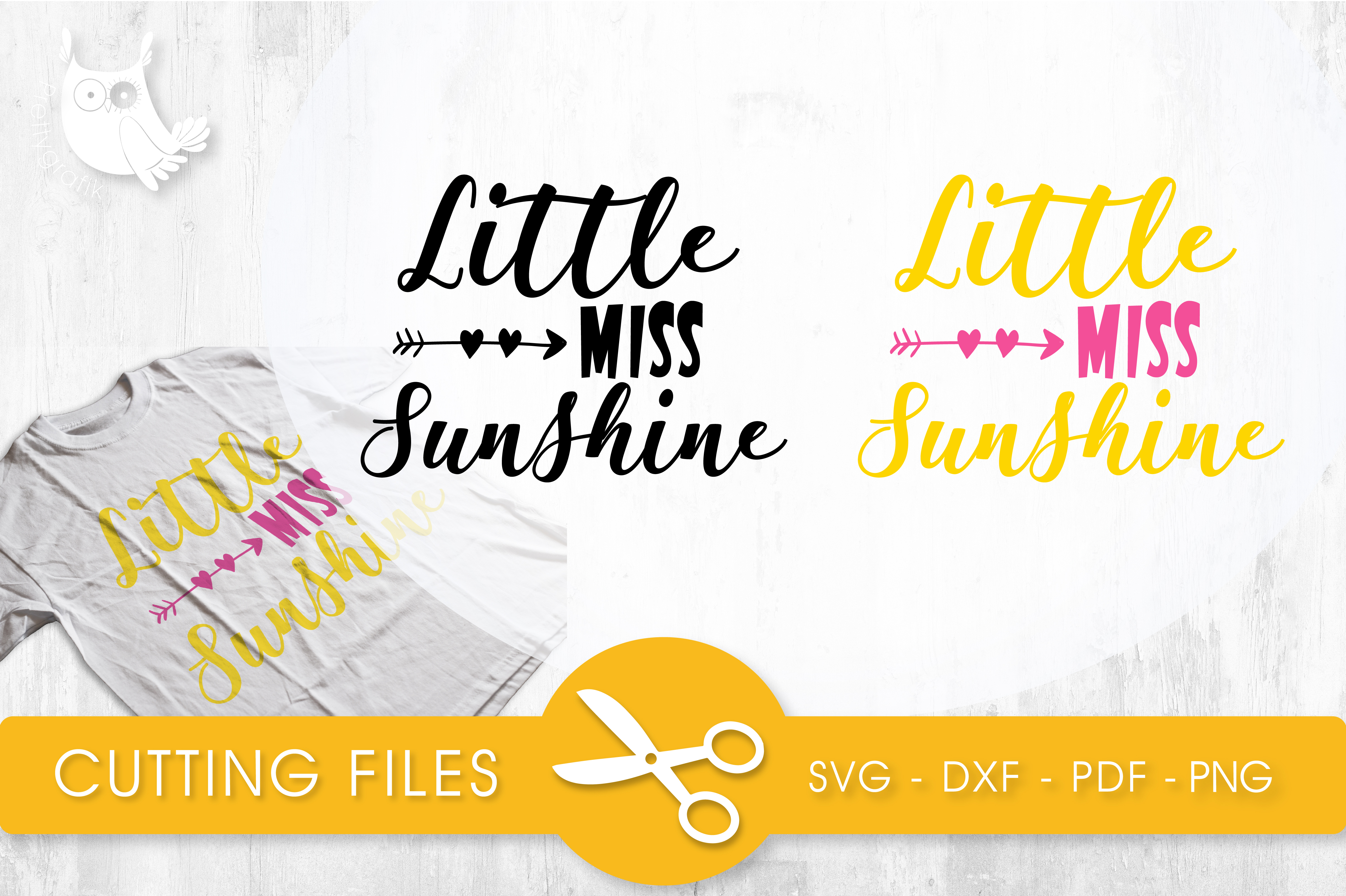Download Free Little Miss Sunshine Graphic By Prettycuttables Creative Fabrica for Cricut Explore, Silhouette and other cutting machines.