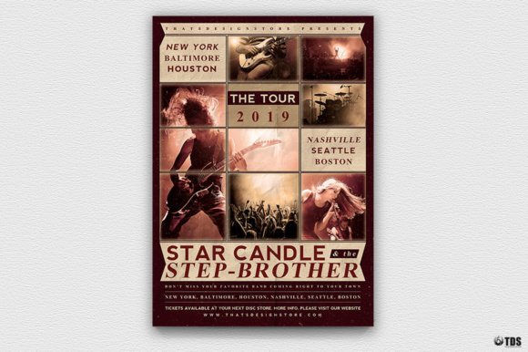 Live Concert Flyer Template V2 Graphic Print Templates By ThatsDesignStore