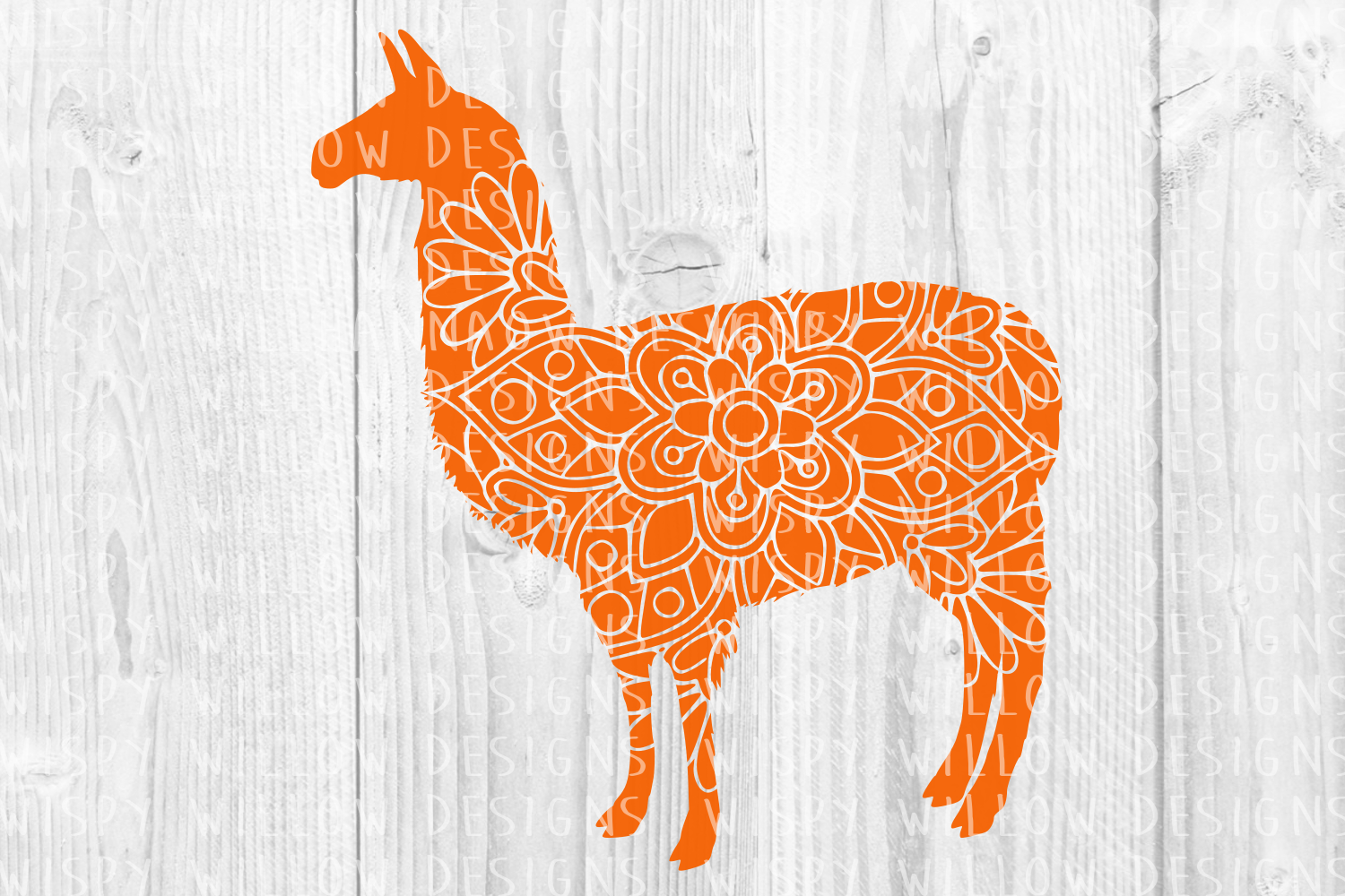 Download Free Llama Floral Mandala Animal Graphic By Wispywillowdesigns for Cricut Explore, Silhouette and other cutting machines.