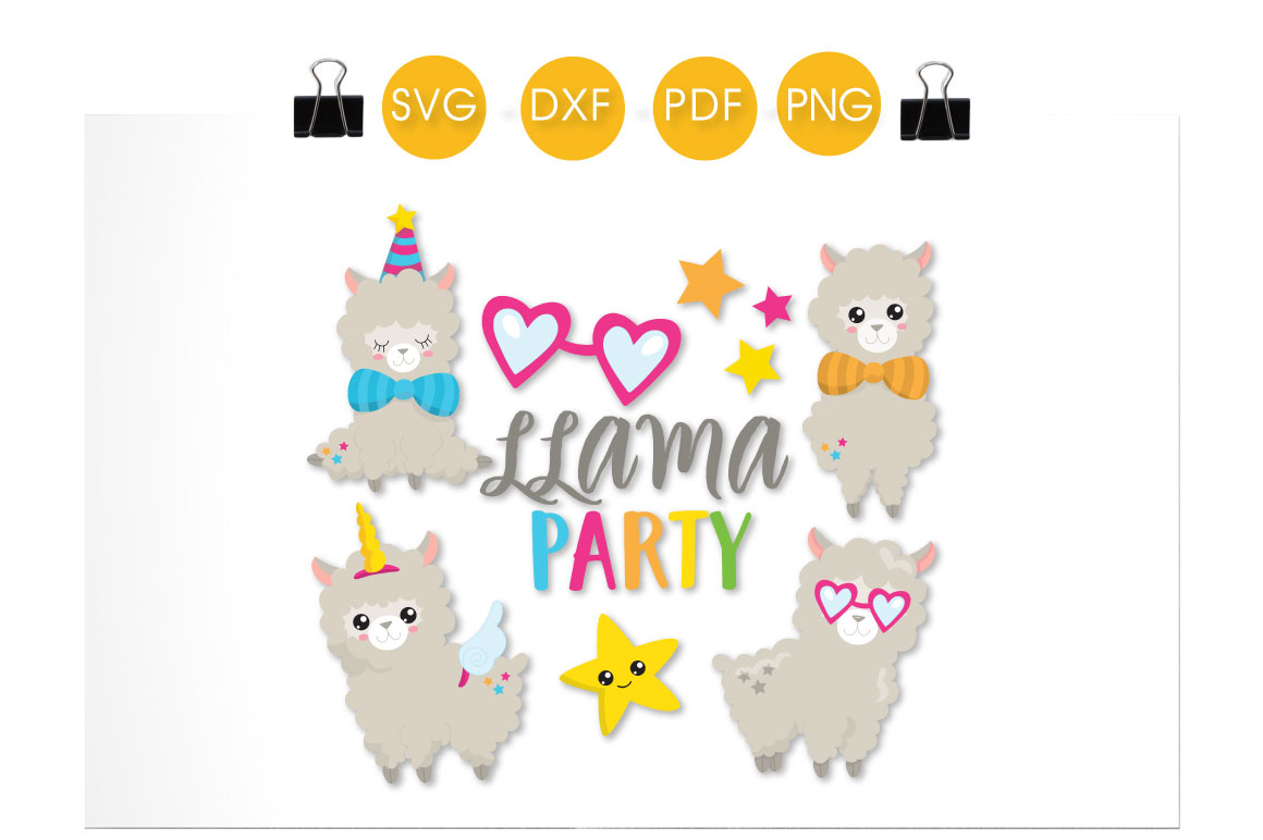 Llama Party Graphic Crafts By PrettyCuttables - Image 2