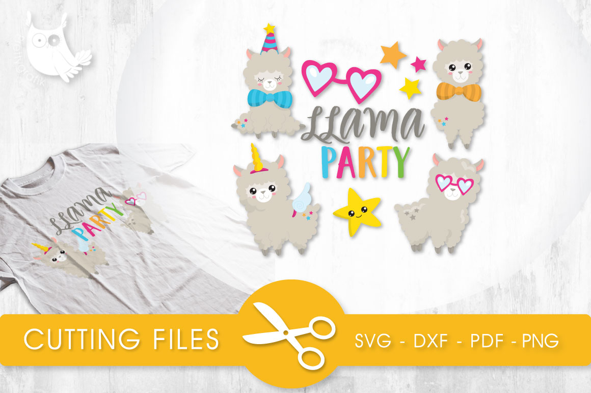 Llama Party Graphic Crafts By PrettyCuttables