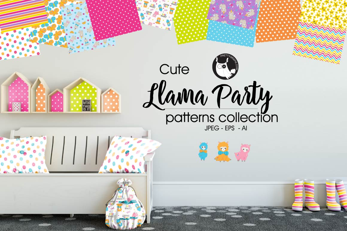 Download Free Llama Party Graphic By Prettygrafik Creative Fabrica for Cricut Explore, Silhouette and other cutting machines.